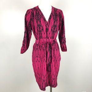 Harper and Gray | Hot Pink Black Tie Cinch Waist